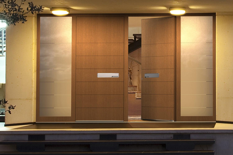 moderne haust ren aus aluminium mit viel glas und mit. Black Bedroom Furniture Sets. Home Design Ideas
