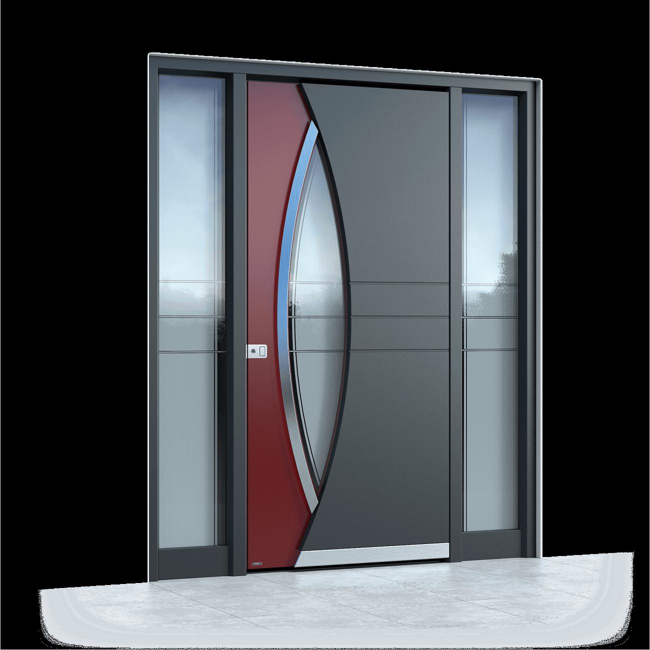 alu haust r mit seitenteil rechts aluminium haust ren. Black Bedroom Furniture Sets. Home Design Ideas